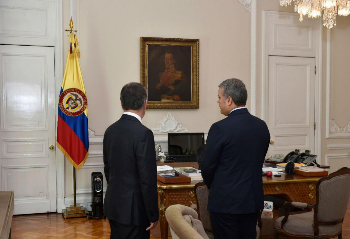 Iván Duque y Juan Manuel Santos están en orillas políticas diferentes
