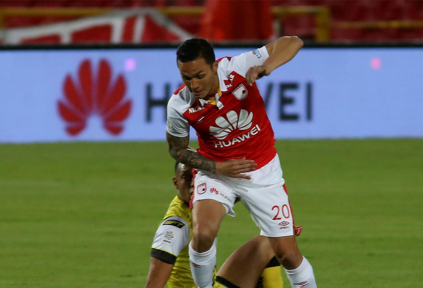 Luis Manuel Seijas, de Santa Fe, anotador del 2-0 ante Alianza Petrolera