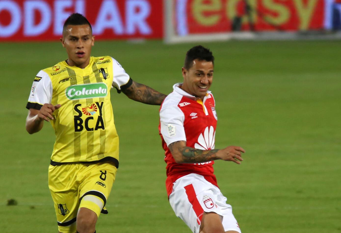 Diego Guastavino, autor del tercer gol de Santa Fe ante Alianza Petrolera