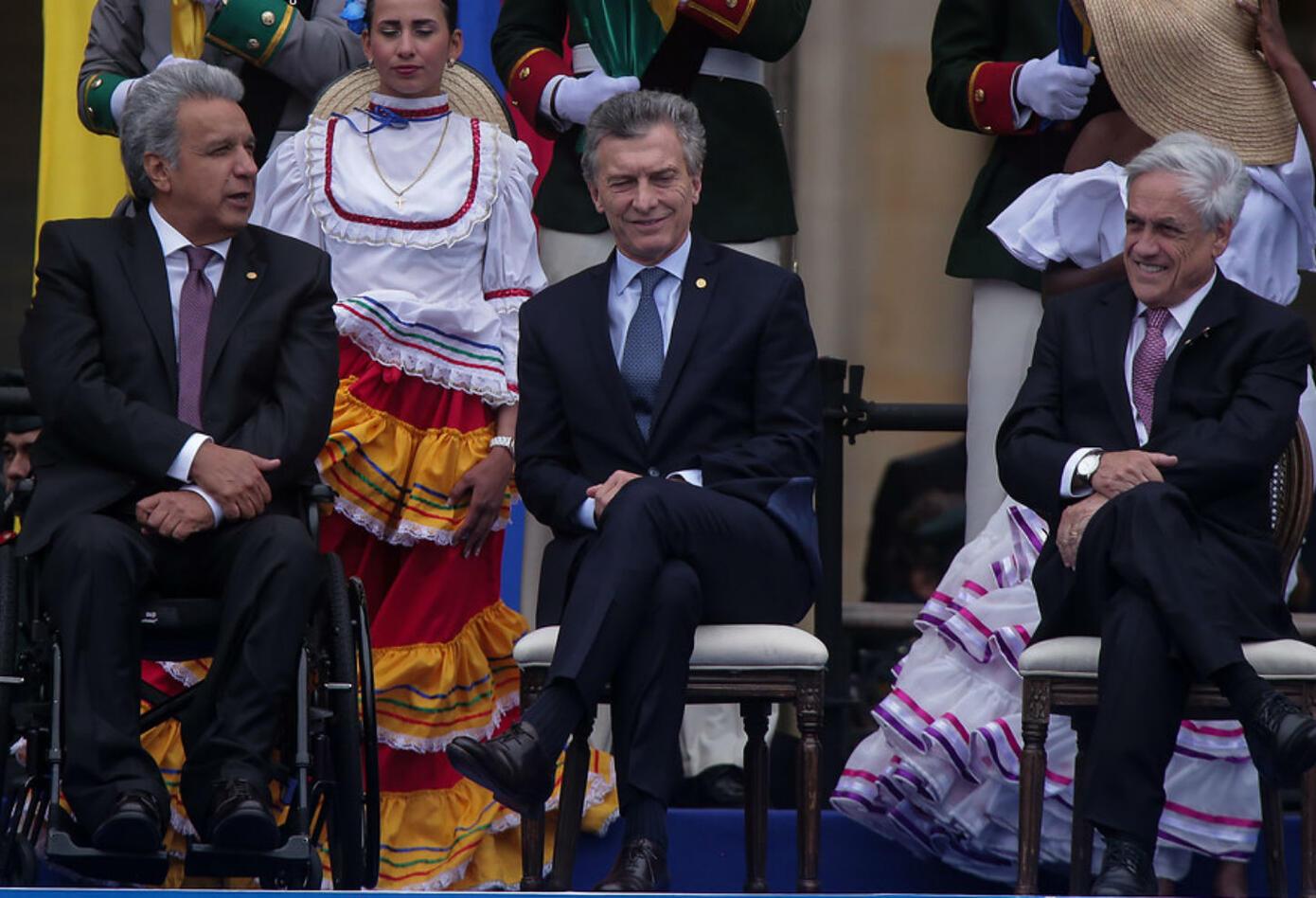 Mauricio Macri en posesión de Iván Duque