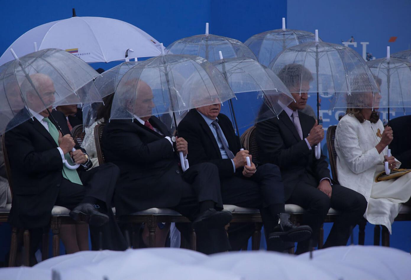 Expresidentes de Colombia en posesión de Iván Duque