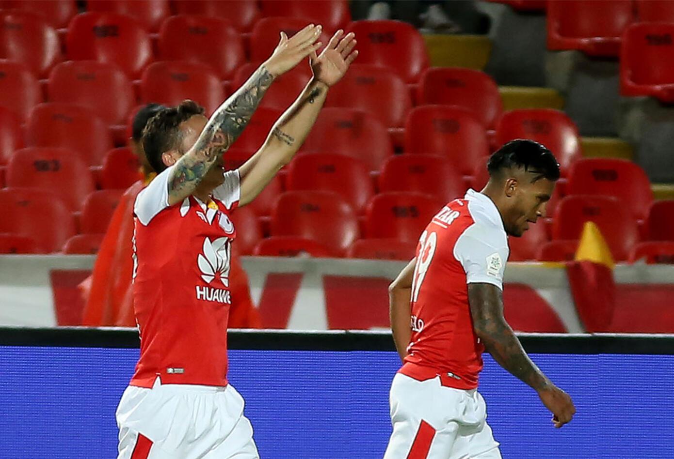 Luis Manuel Seijas celebró el segundo gol de Santa Fe ante Alianza
