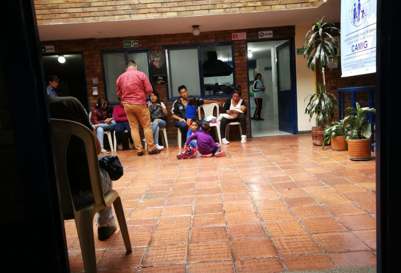 Patio central, Centro de Atención al Migrante