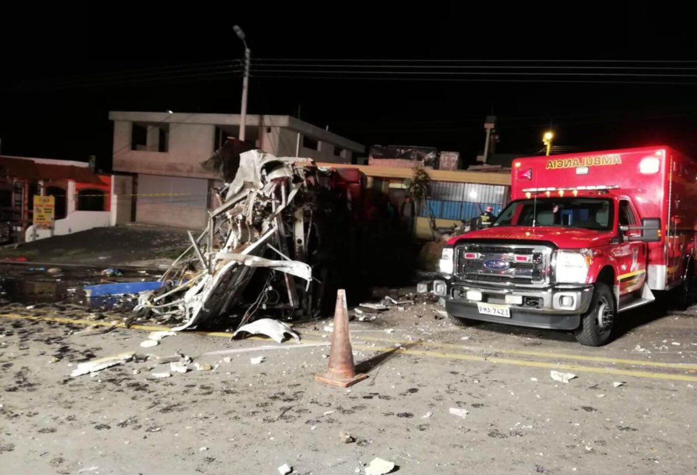 Accidente bus Ecuador