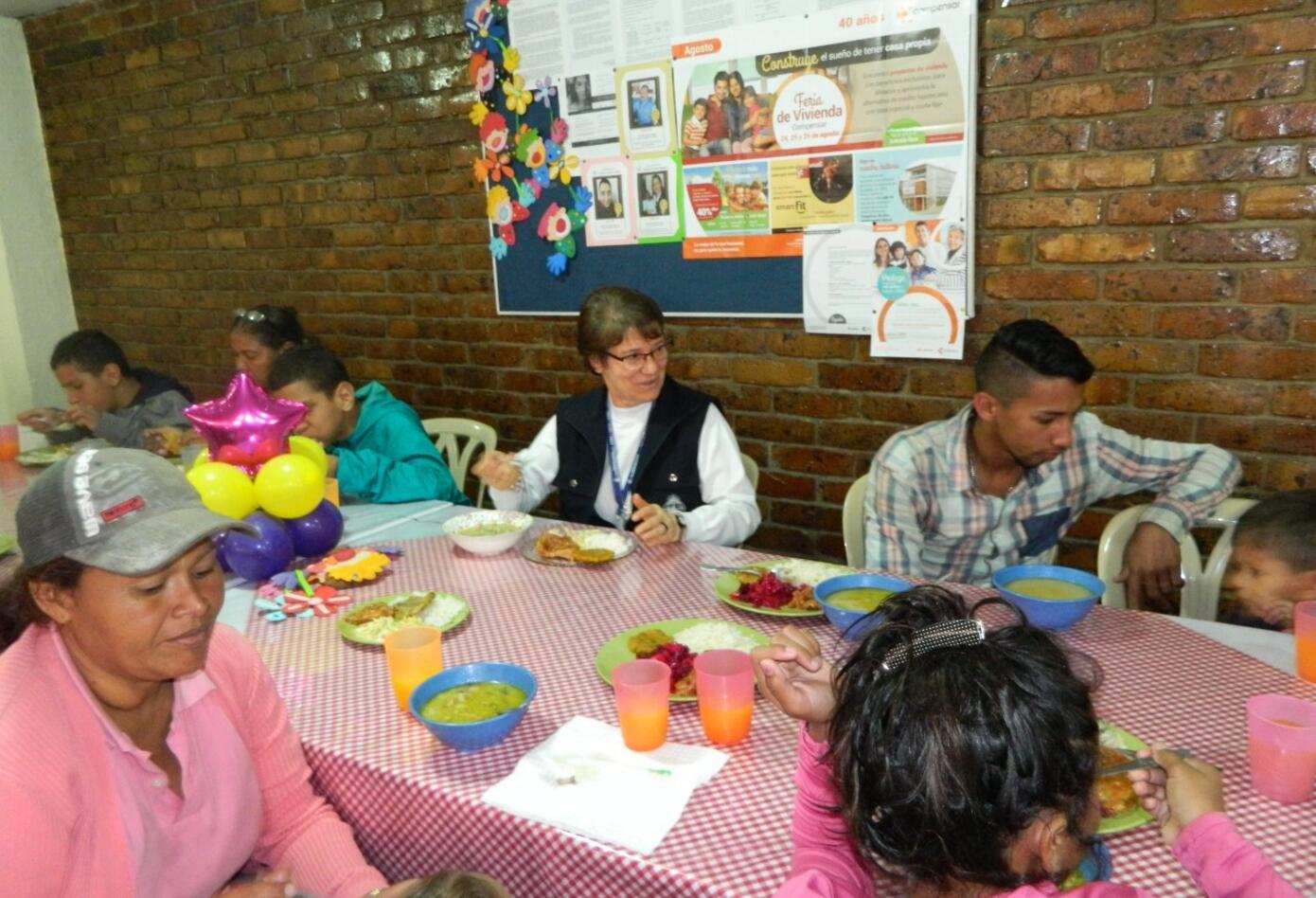 Comedor para migrantes venezolanos