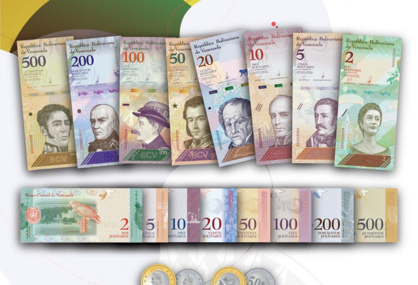 Resultado de imagen para imagen de billetes venezolanos