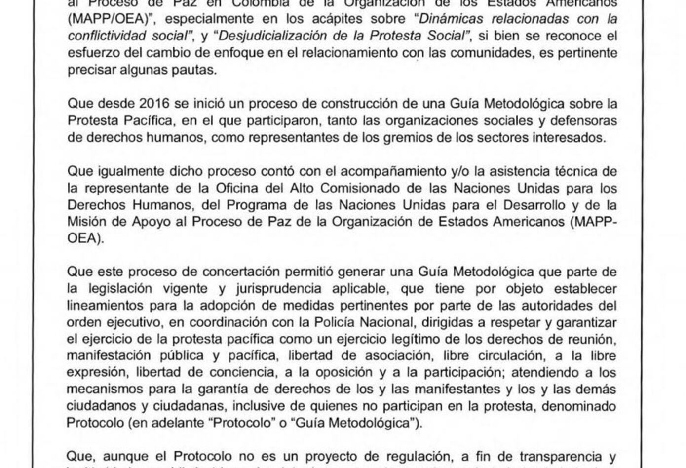 Resolución protesta página 2