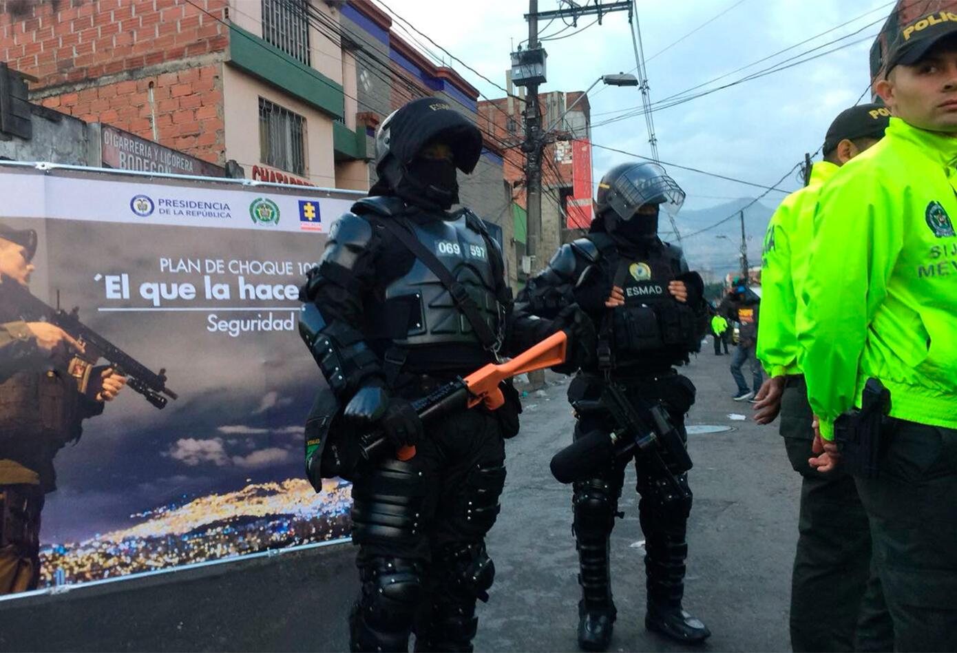 """La Policía Metropolitana del Valle de Aburrá en el """"Bronx"""" de Medellín"""