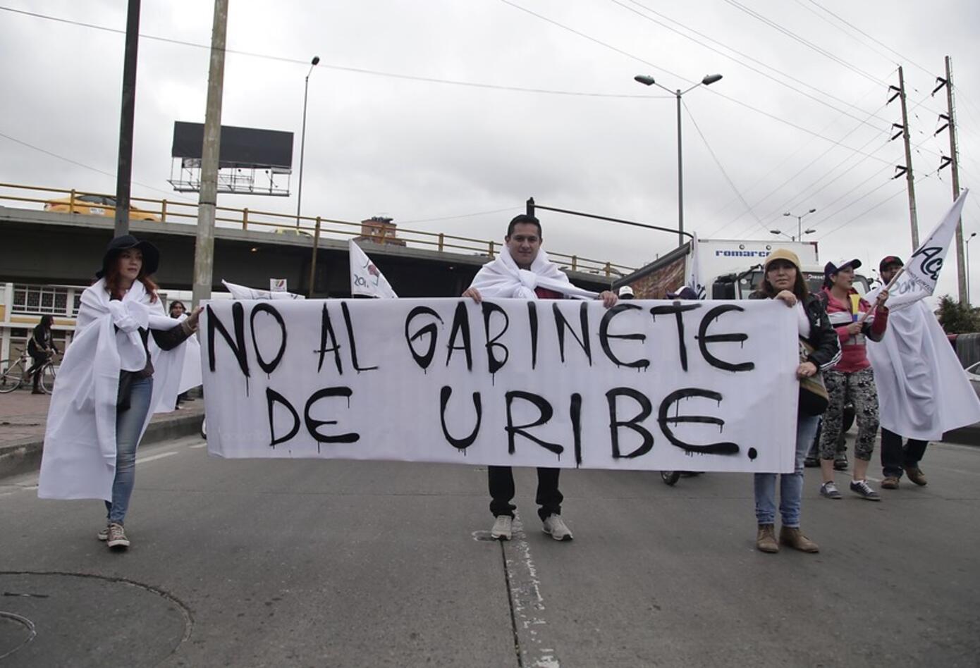 Las protestas en Bogotá en medio de la posesión de Iván Duque