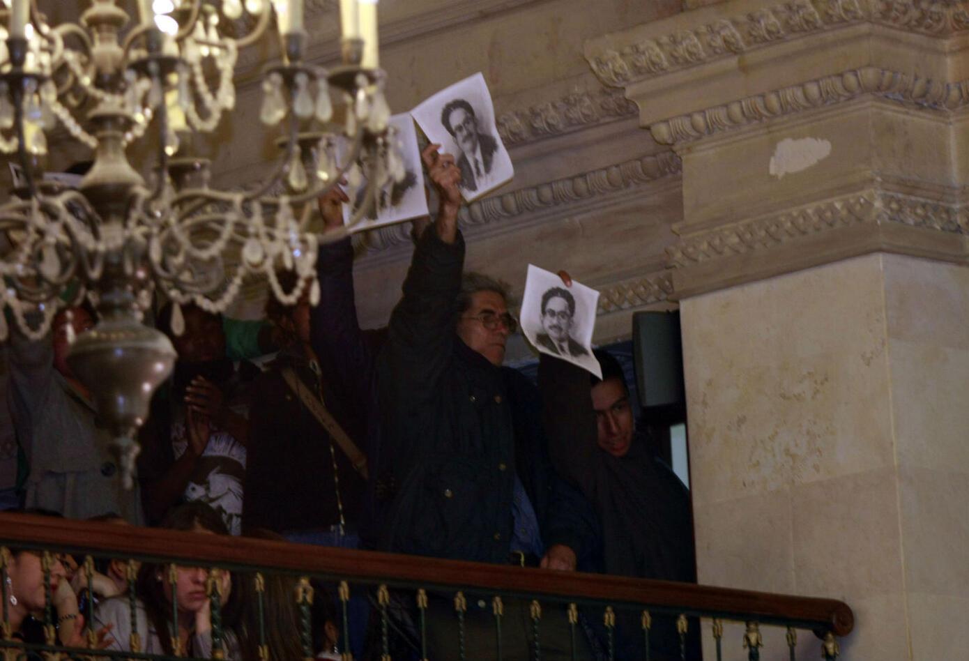 Los seguidores de Manuel Cepeda en uno de los homenajes que se le han rendido