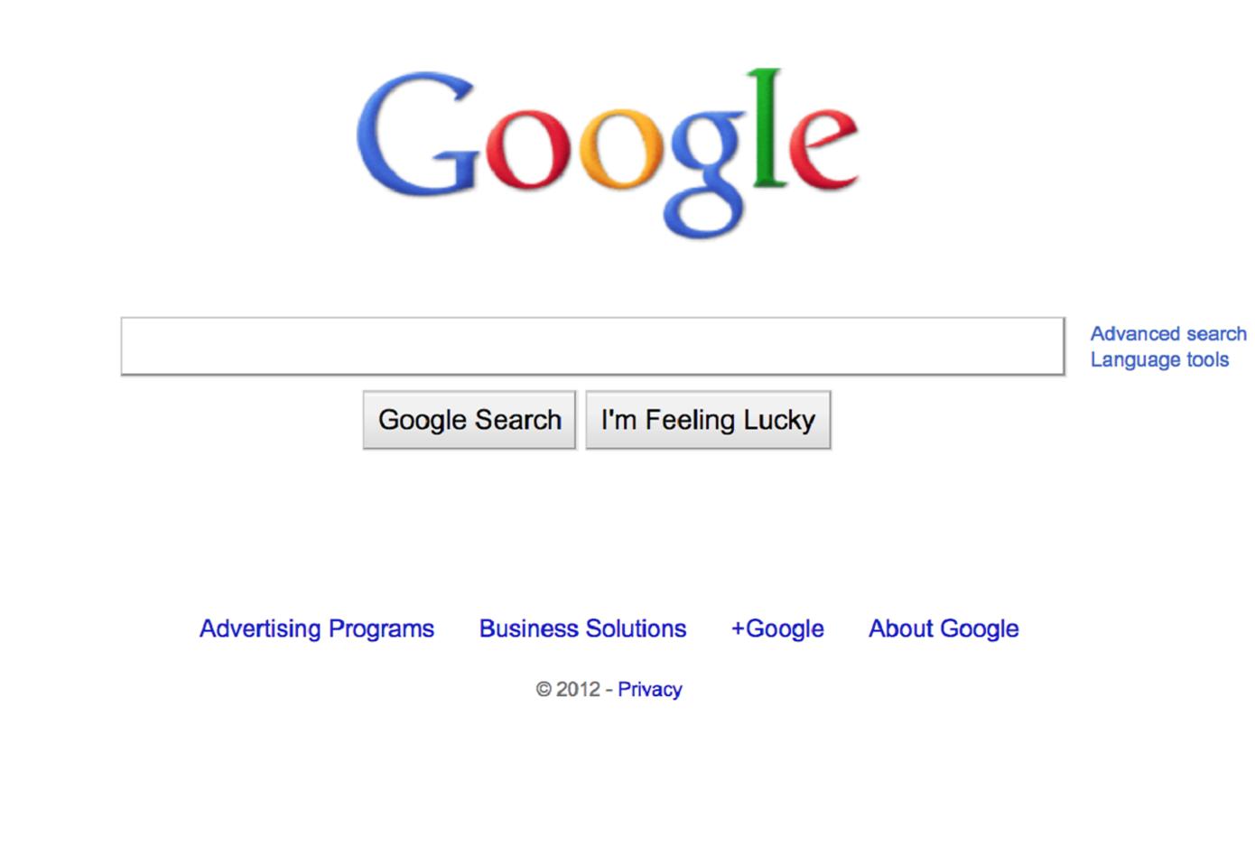Google 2012