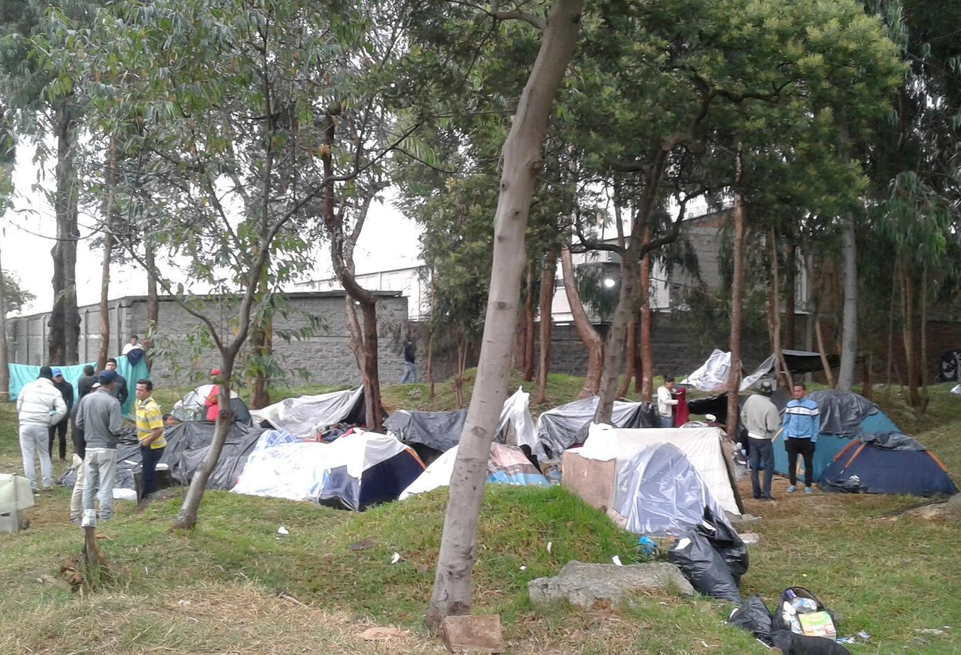 Campamentos de venezolanos en Bogotá