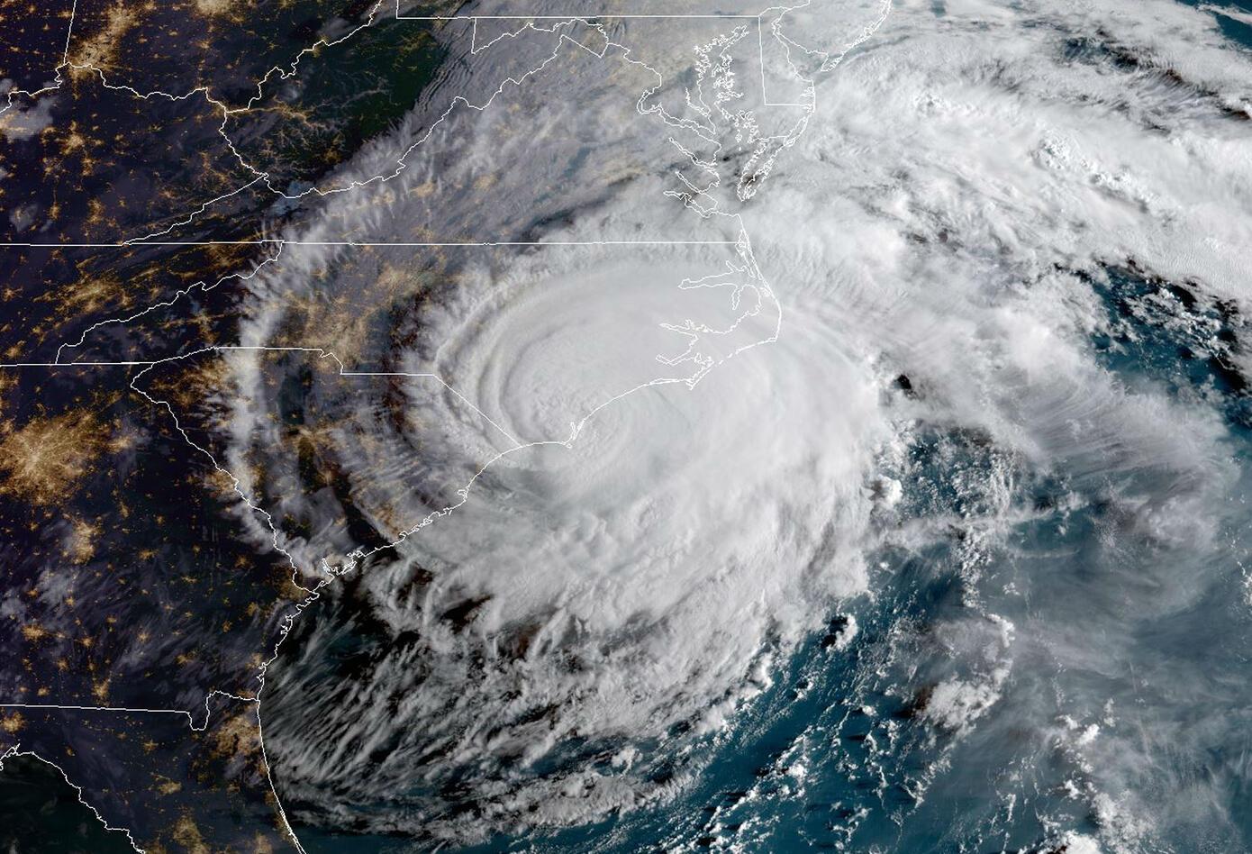Estragos del huracán Florence