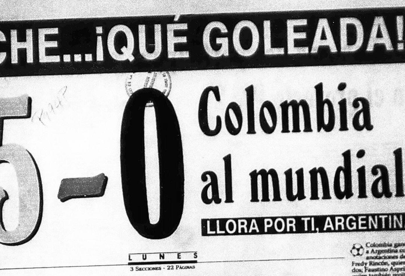 Portada del diario La Patria el 6 de septiembre de 1993