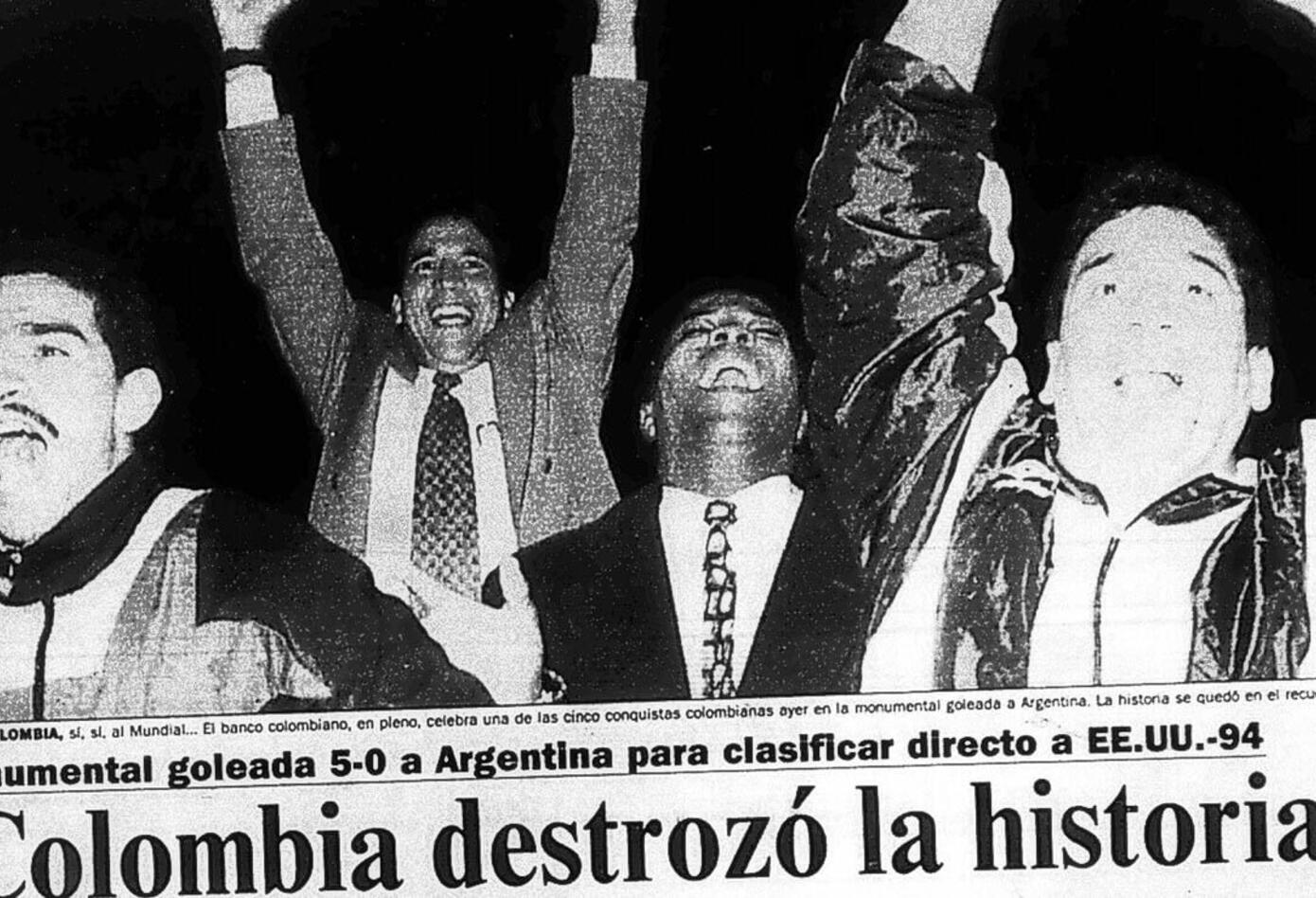El diario El Tiempo y las reacciones por el triunfo de Colombia ante Argentina 5-0