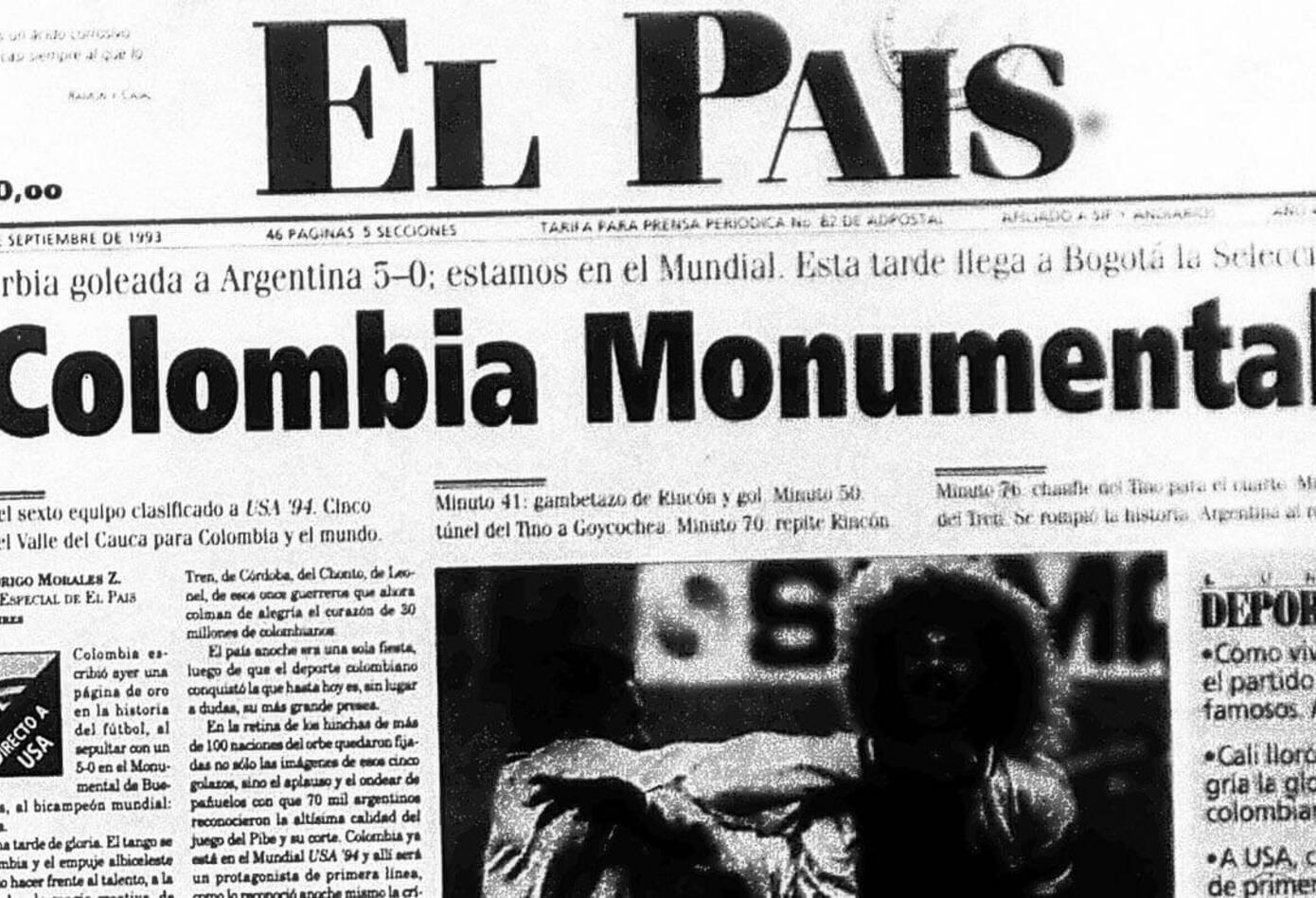 Portada del diario El País el 6 de septiembre de 1993