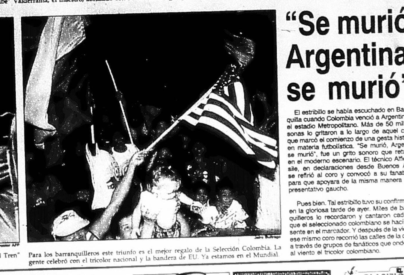 El diario El Heraldo y las reacciones por el triunfo de Colombia ante Argentina 5-0