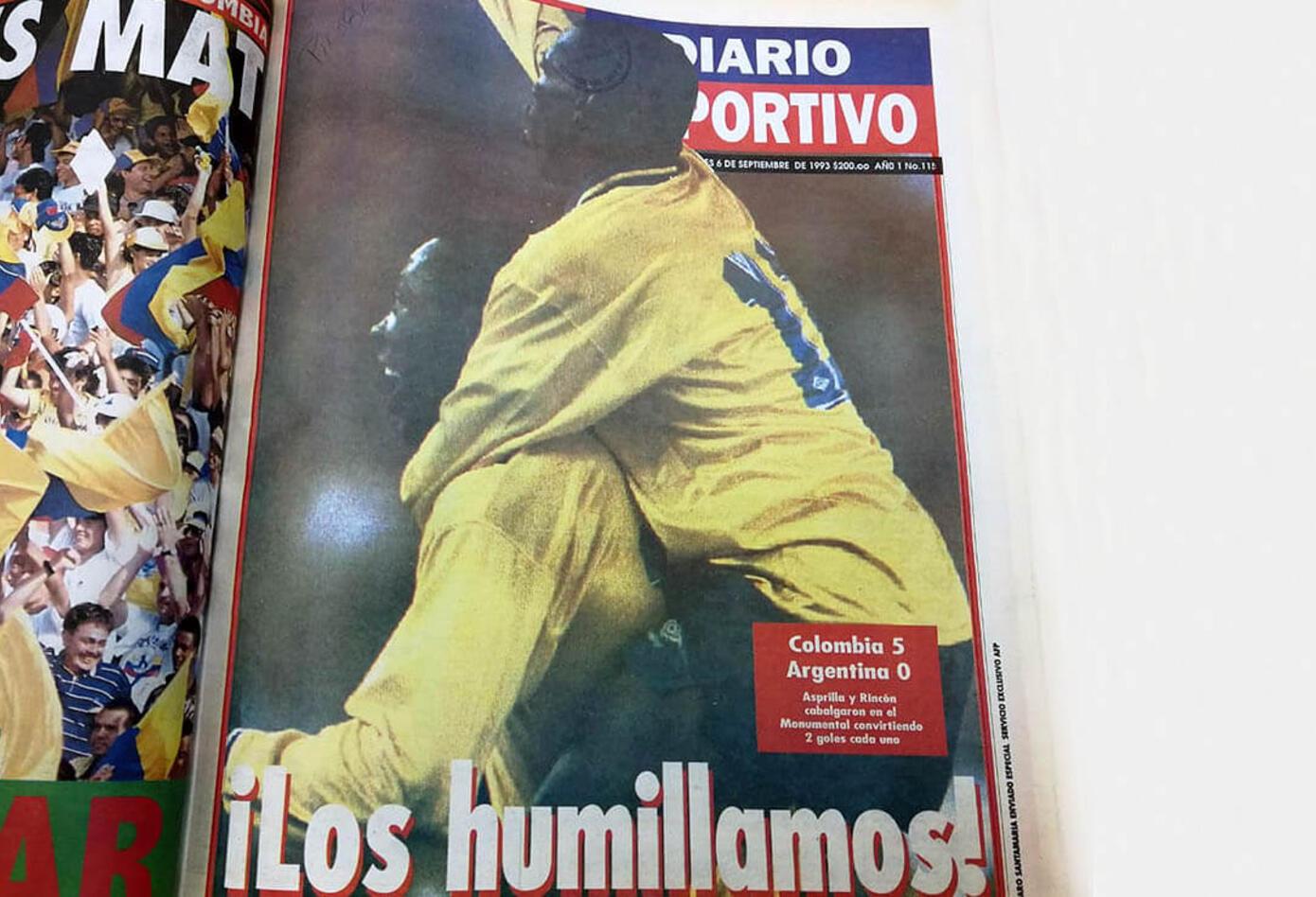 Portada del Diario Deportivo el 6 de septiembre de 1993