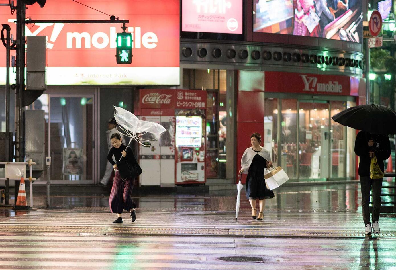 Tifón Trami golpea a Japón