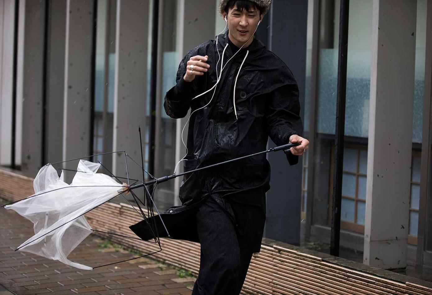 Tifón Trami afecta a los japoneses