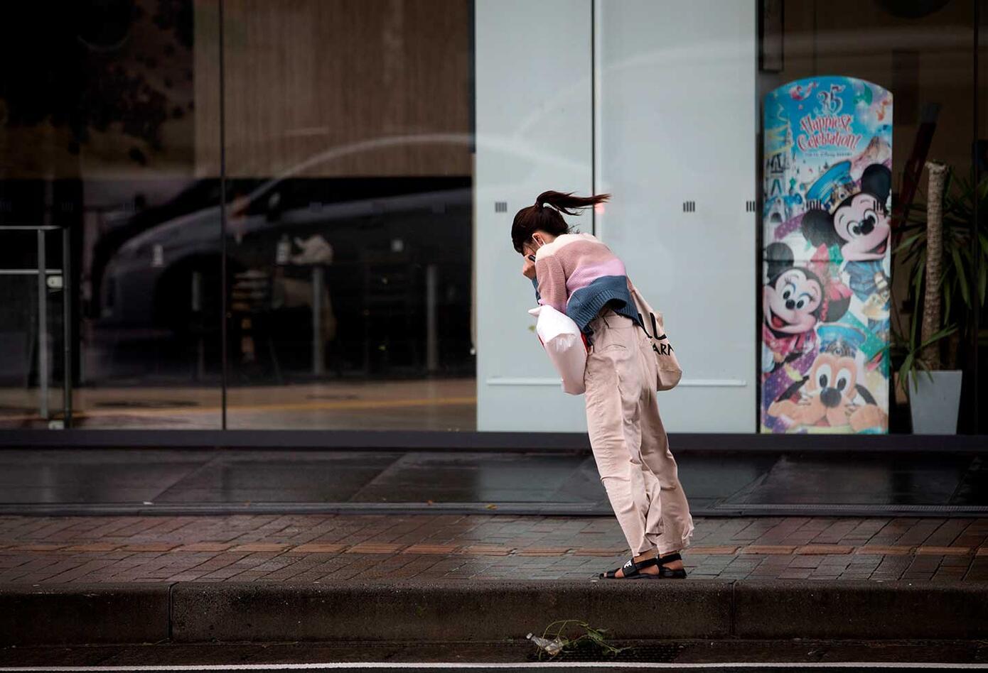 Tifón Trami golpea el corazón de Japón
