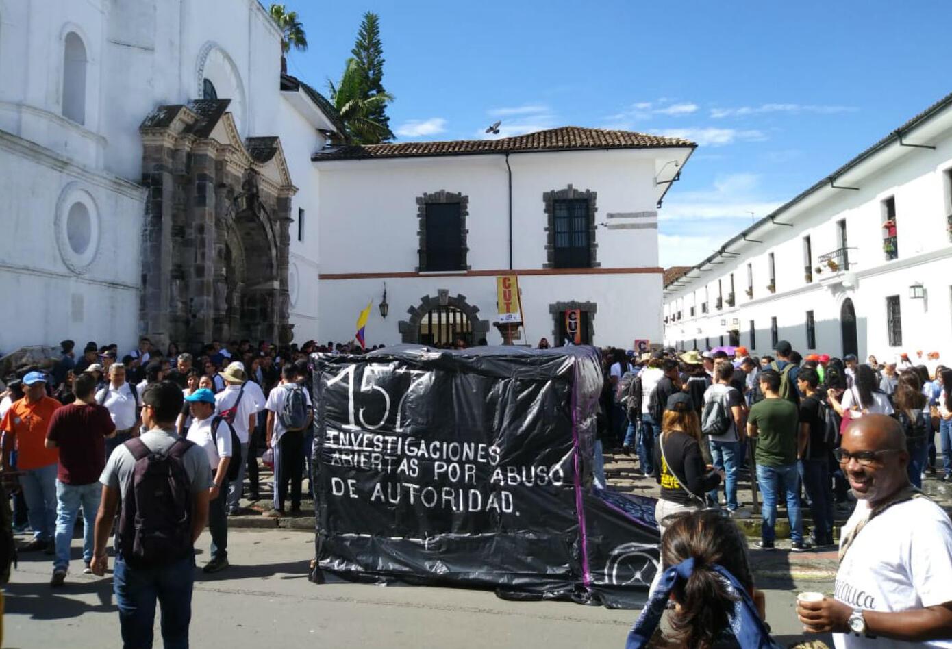 Marcha estudiantil en Popayán