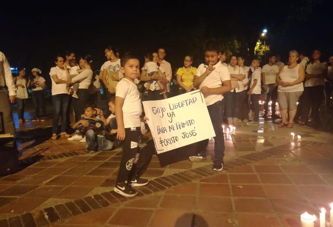 Los niños también pidieron la liberación de Cristo José Contreras