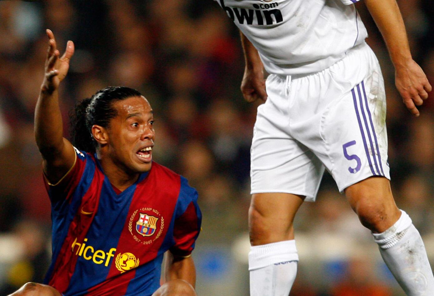 La temporada 2007-2008 sería la última de Ronaldinho como jugador del Barcelona