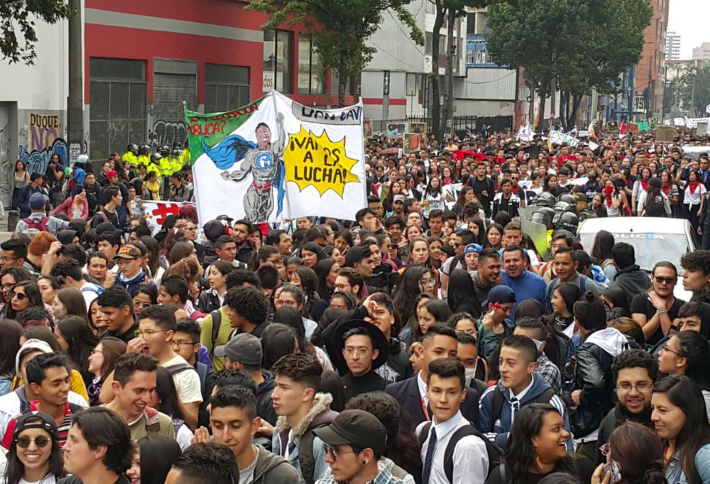 Marcha estudiantil en Bogotá