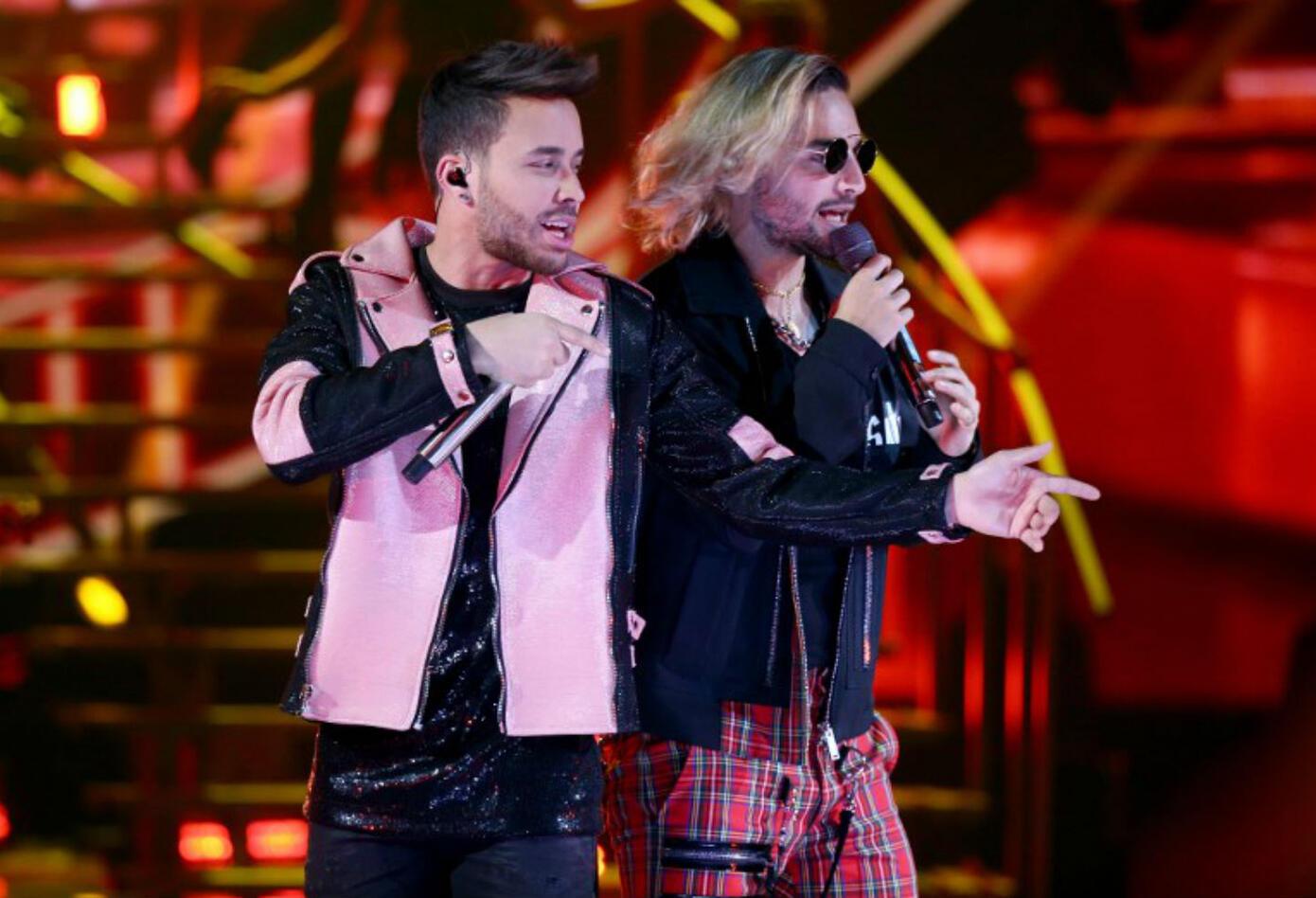 Maluma y Prince Royce en los Latin American Music Awards