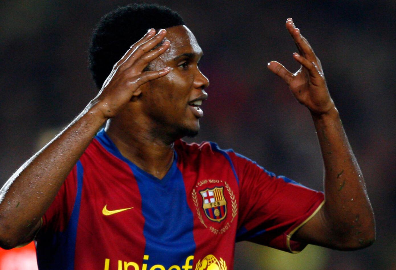El camerunés Samuel Eto'o era el líder de la delantera en el Barcelona