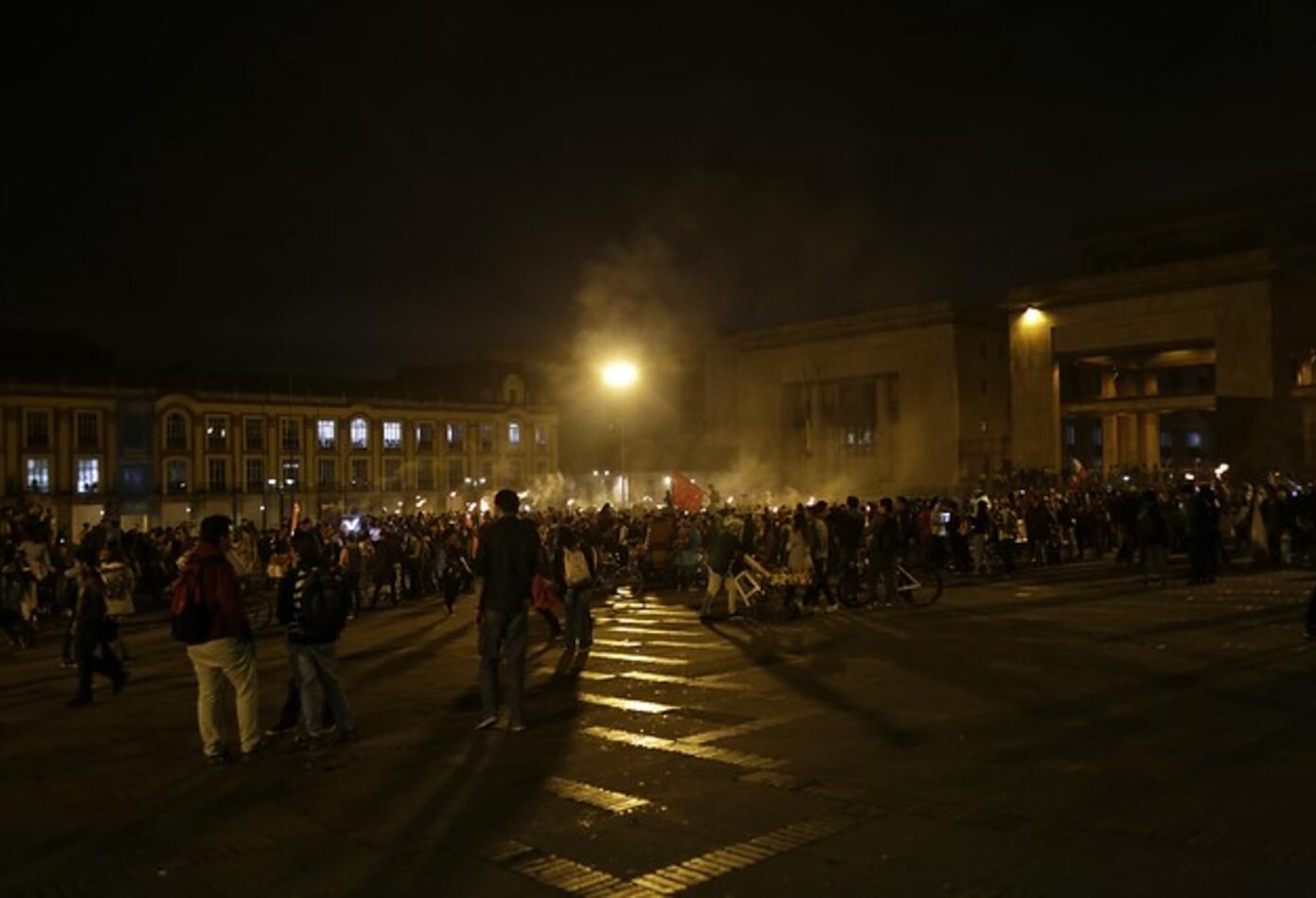 Marcha de las antorchas en Bogotá