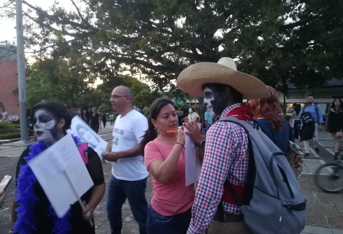Marcha zombie en Bucaramanga.