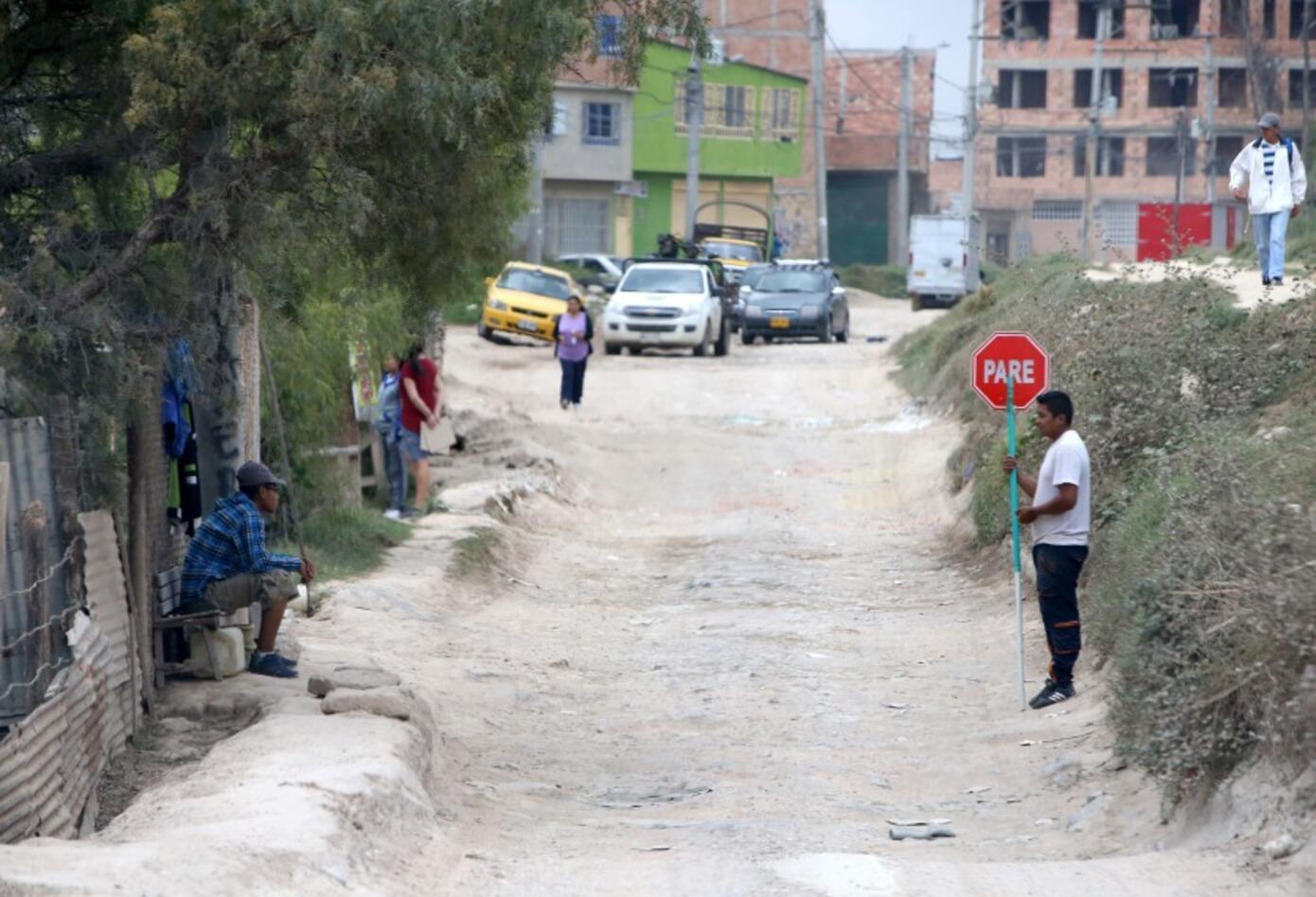 Calle destapada en Bosa