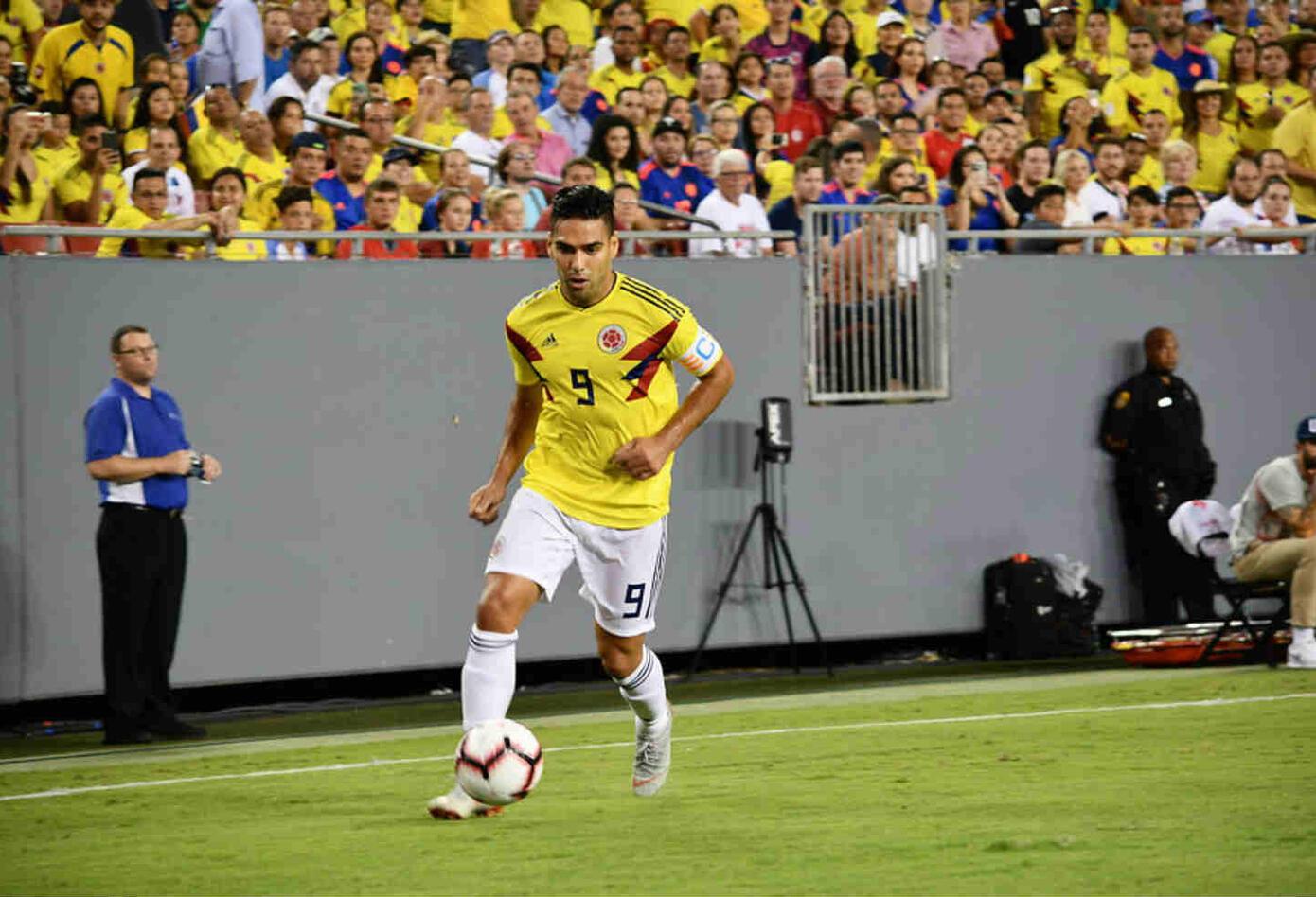 Falcao en un partido con la Selección Colombia