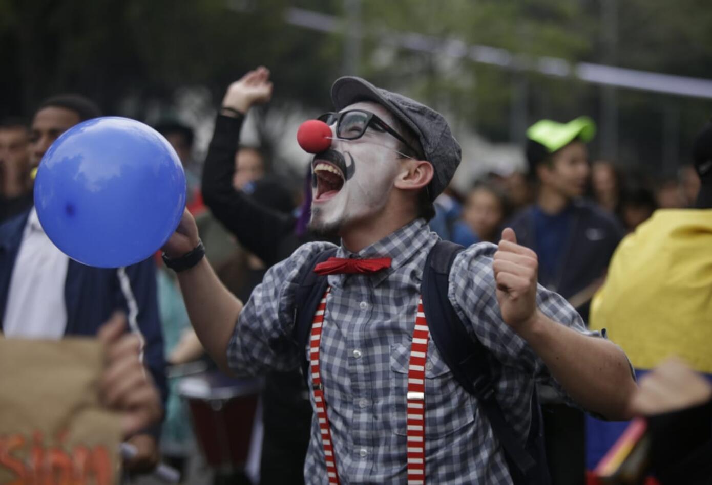 Marcha de universitarios en Bogotá