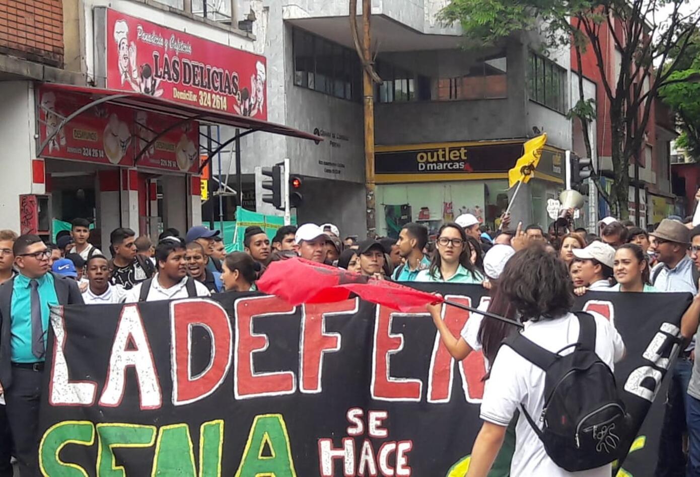 Movilizaciones estudiantiles en Pereira