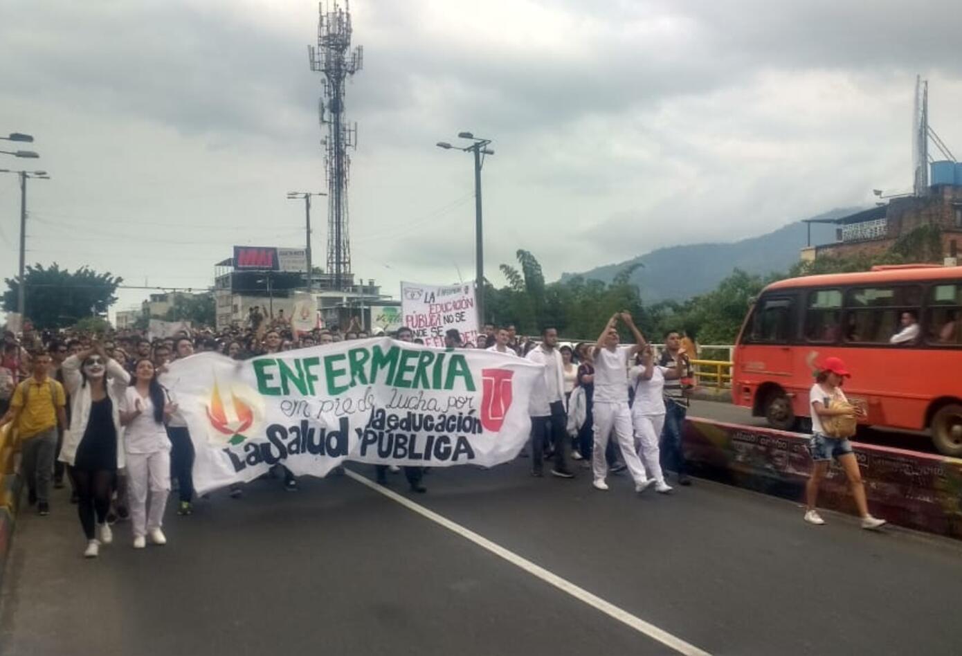 Movilizaciones estudiantiles en Ibagué