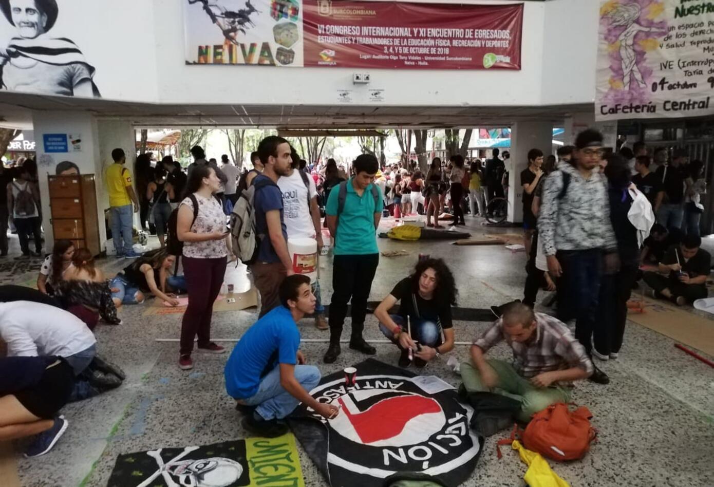 Movilizaciones estudiantiles en Neiva