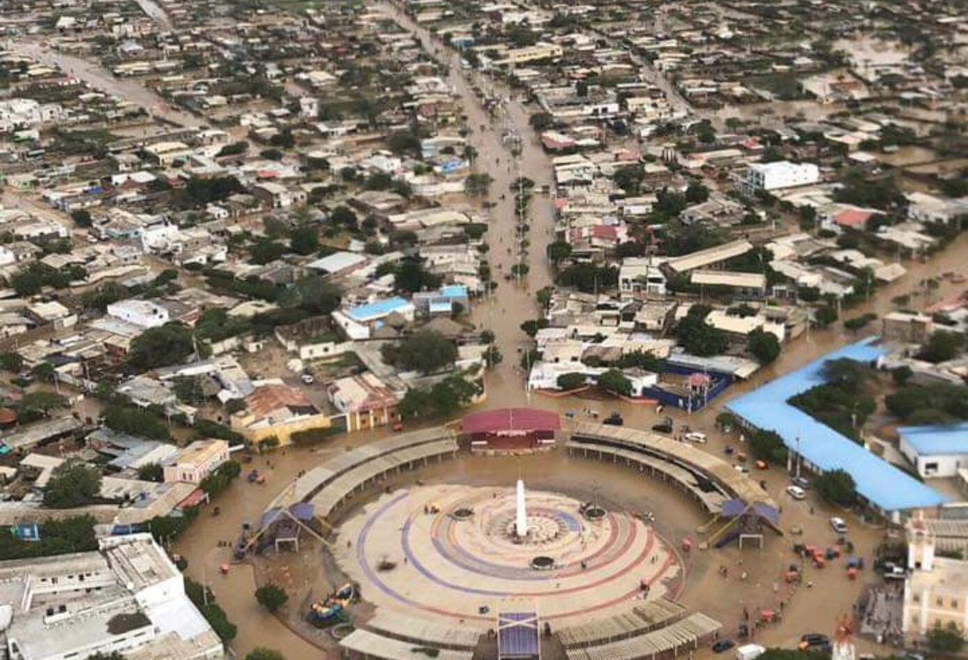 Foto panorámica de la Alta Guajira tras lluvias.