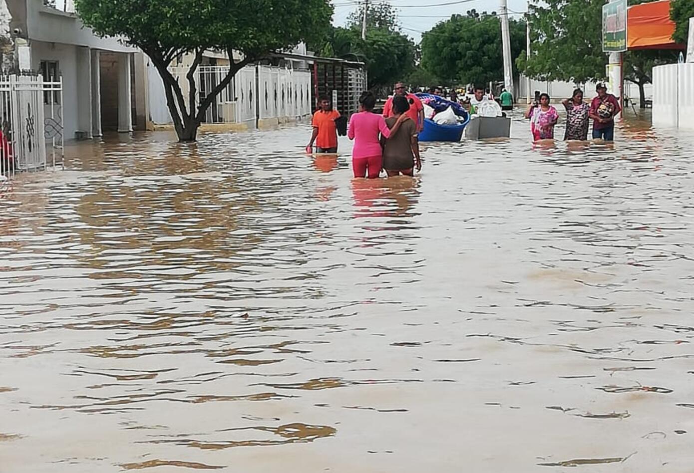 Inundaciones en Uribia, La Guajira.