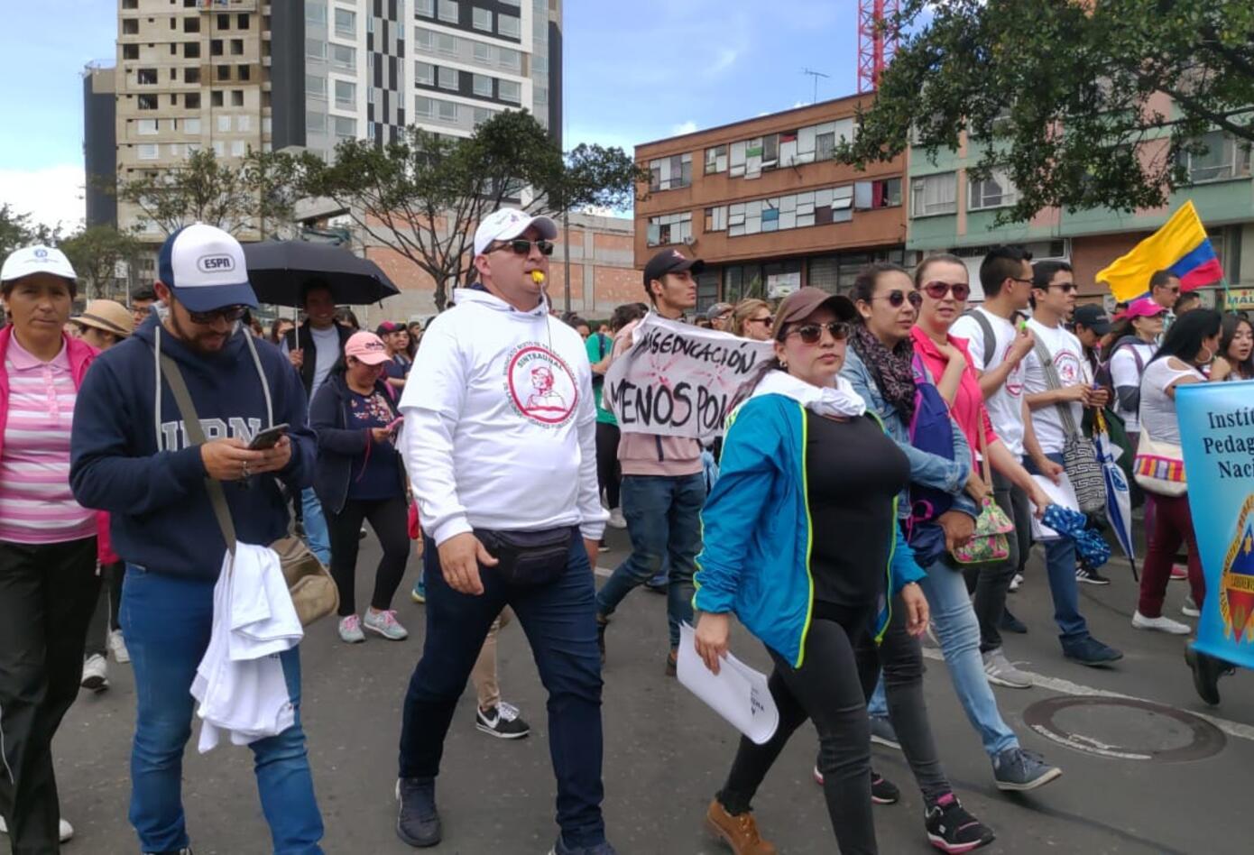 Nueva Marcha de universitarios en Bogotá 2