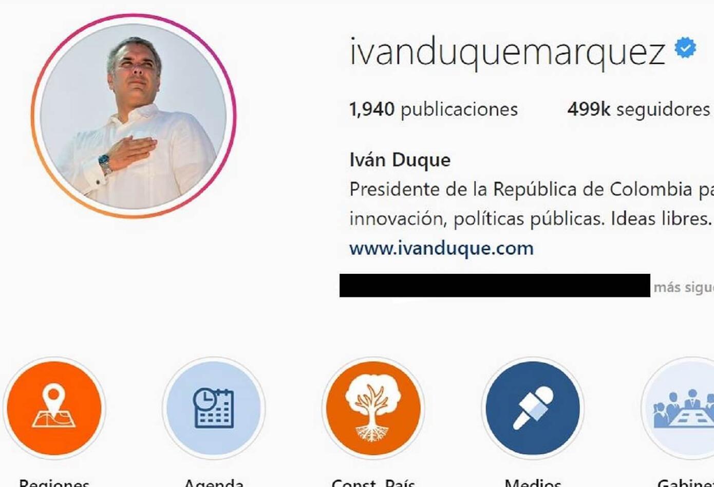 Cuenta de Instagram de Iván Duque