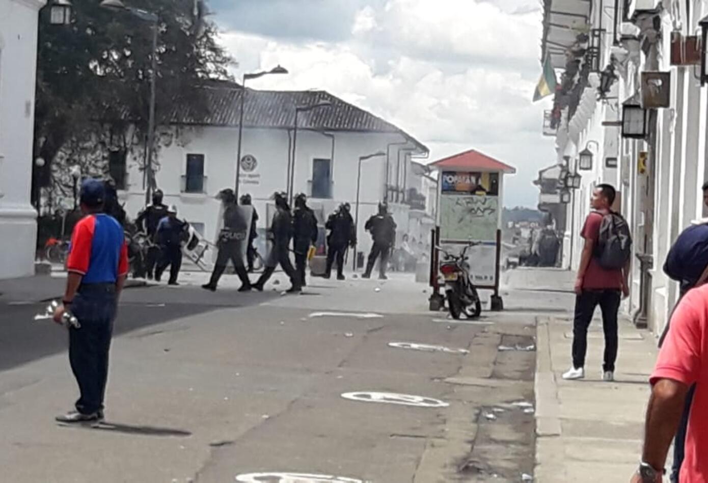 Disturbios en Popayán 1