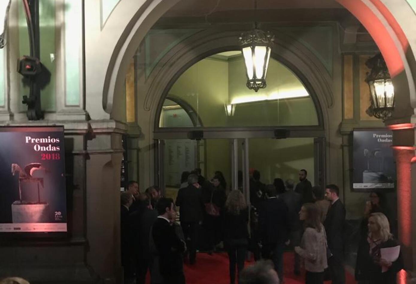 Este fue el salón dedicado a la gala de los premios Ondas 2018