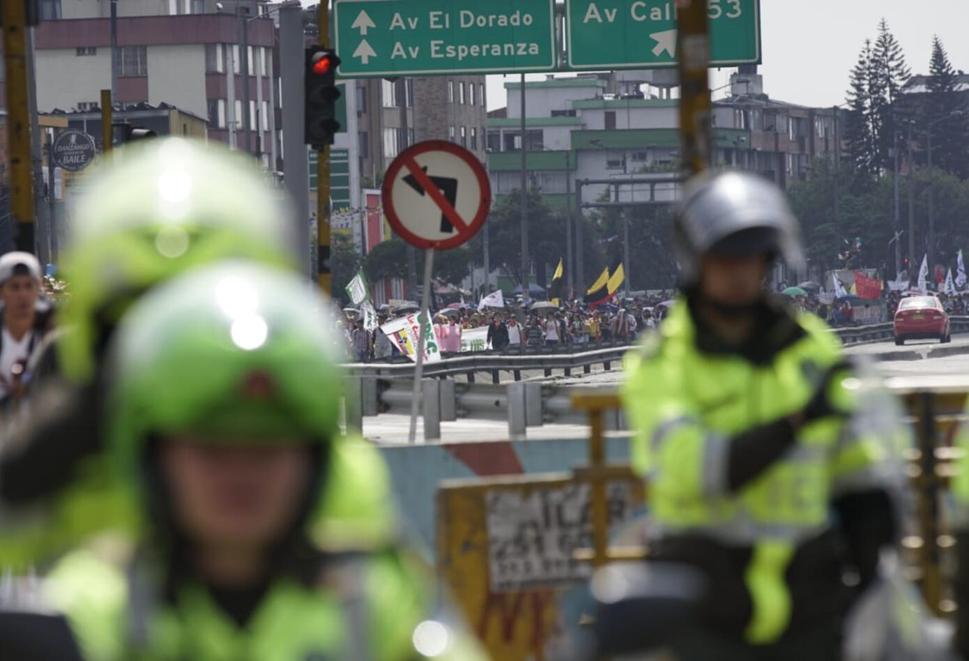 Marchas de los estudiantes universitarios en Bogotá 15