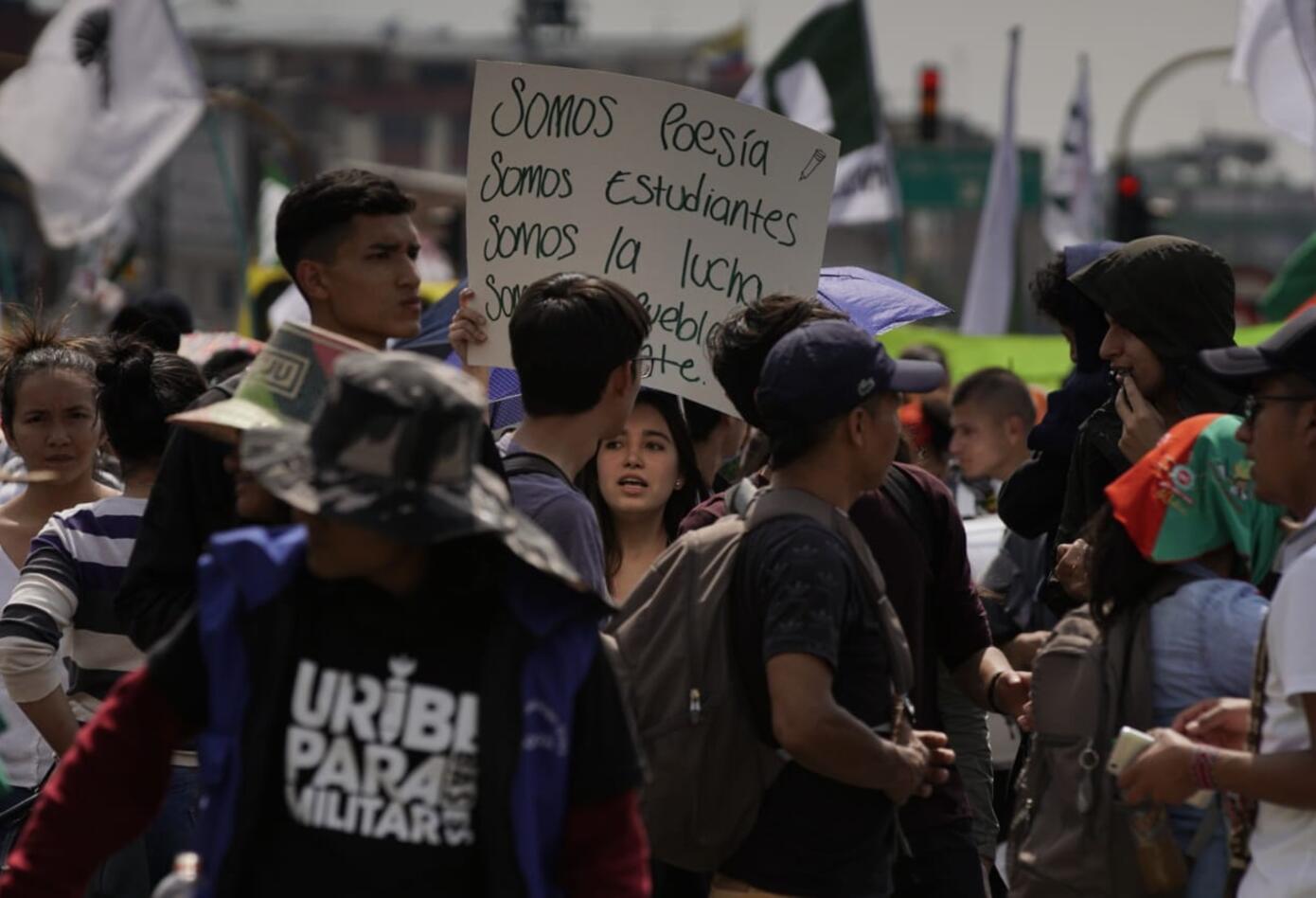 Marchas de los estudiantes universitarios en Bogotá 14