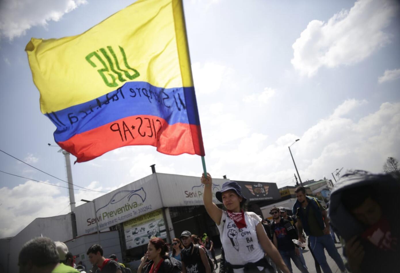 Marchas de los estudiantes universitarios en Bogotá 13