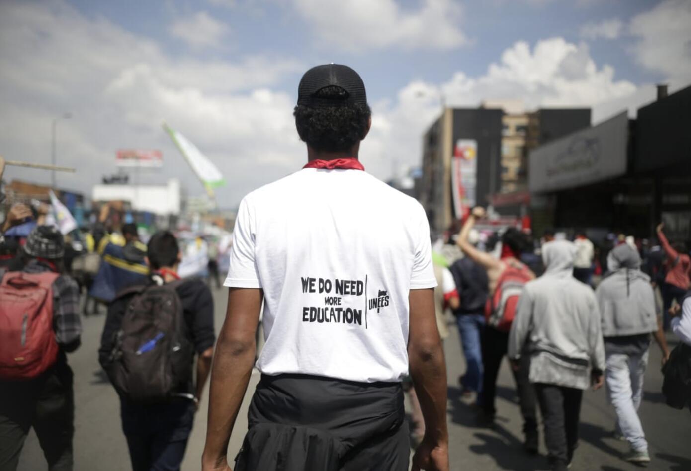 Marchas de los estudiantes universitarios en Bogotá 11