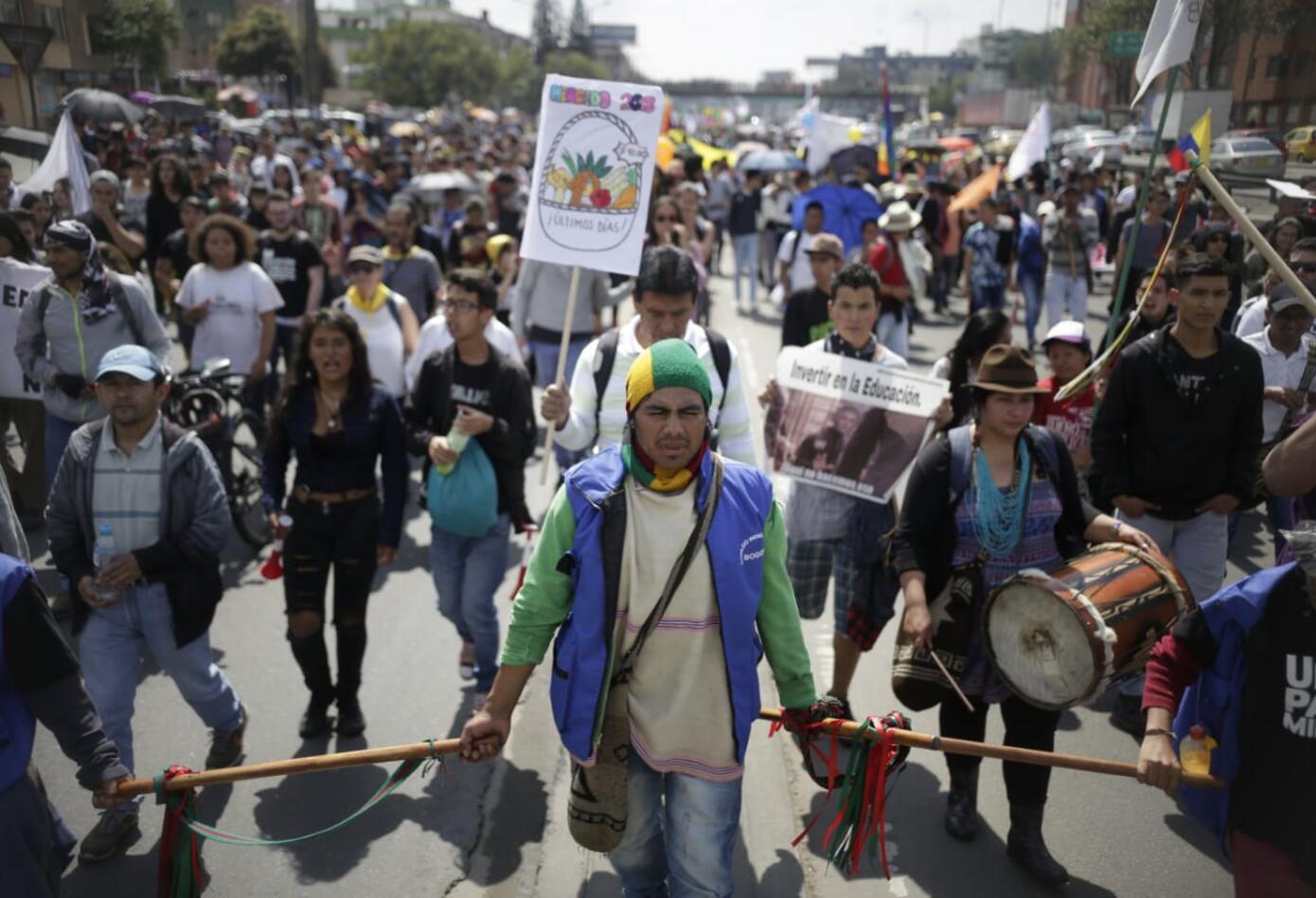 Marchas de los estudiantes universitarios en Bogotá 12